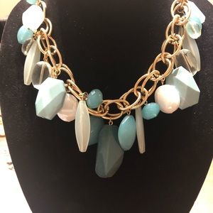 Mint, blue and green necklace